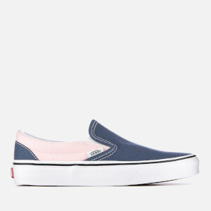Vans Women's Classic Slip-On Trainers - Vintage Indigo/Chalk Pink