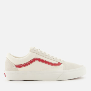 Vans Men's Old Skool Trainers - Vintage White/Rococco Red