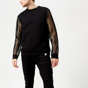 Versace Collection Men's Mesh Sleeve Sweatshirt - Nero