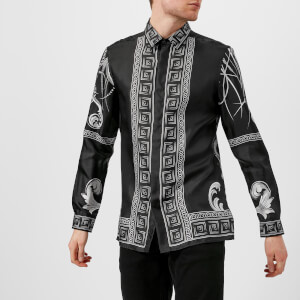 Versace Collection Men's Printed Silk Shirt - Nero Stampa