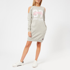 Superdry Women's Miami Cold Shoulder Sweat Dress - Austin Grey Nep