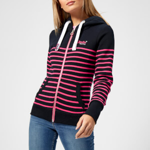 Superdry Women's Sun & Sea Zip Hoody - Eclipse Navy/Neon Candy