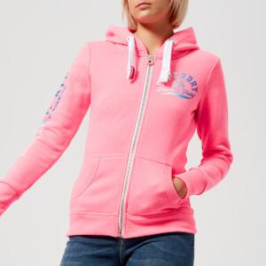 Superdry Women's Track & Field Zip Hoody - Casette Pink Snowy