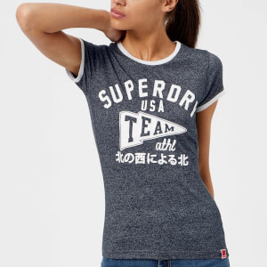 Superdry Women's Team Ringer Entry T-Shirt - Grit Navy