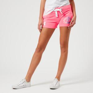 Superdry Women's Track & Field Lite Shorts - Casette Pink Snowy