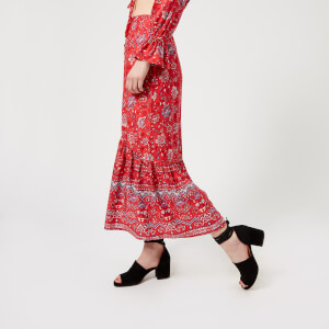 MINKPINK Women's Lucia Button Front Maxi Skirt - Red