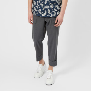 Wooyoungmi Men's Cropped Patch Pocket Trousers - Grey