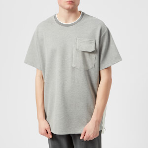 Wooyoungmi Men's Large Pocket and Zip Detail T-Shirt - Grey