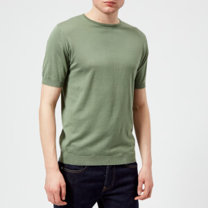 John Smedley Men's Belden 30 Gauge Sea Island Cotton T-Shirt - Gauge Green