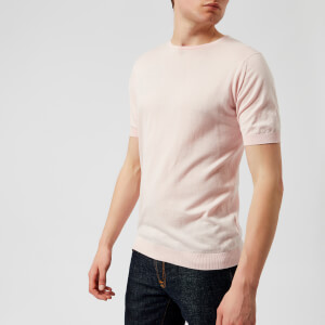 John Smedley Men's Belden 30 Gauge Sea Island Cotton T-Shirt - Dress-Shirt Pink