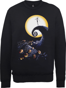 Disney The Nightmare Before Christmas Jack Skellington Pumpkin King Colour Black Sweatshirt