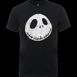 """Camiseta Pesadilla antes de Navidad """"Jack Skeleton Arrugado"""" - Hombre - Negro"""