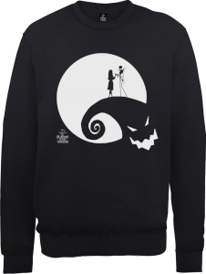 The Nightmare Before Christmas Jack And Sally Moon Black Sweatshirt