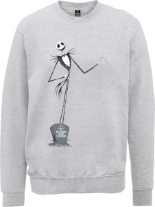 Disney The Nightmare Before Christmas Jack Skellington Full Body Grey Sweatshirt