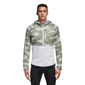 adidas Men's Ultra Graphic Running Jacket - White/Cargo