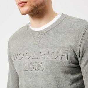 Woolrich Men's Logo Crew Sweatshirt - Medium Grey