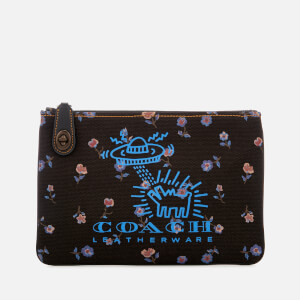 Coach Women's X Keith Haring Turnlock 26 Pouch - Black