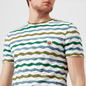 Missoni Men's Intarsia Jersey T-Shirt - White/Green