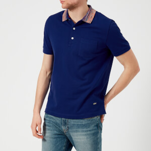Missoni Men's Pique Contrast Collar Polo Shirt - French Navy