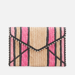 Rebecca Minkoff Women's Straw Leo Clutch - Pink Multi