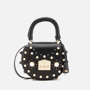 SALAR Women's Mimi Pearl Bag - Black