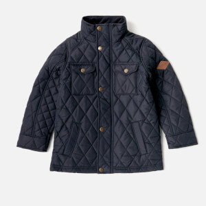 Joules Boys' Stafford Quilted Jacket - Marine Navy