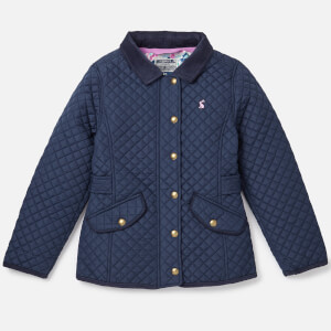 Joules Girls' Newdale Quilted Coat - French Navy