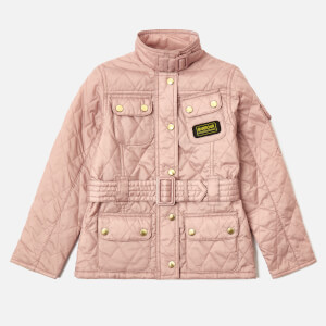 Barbour Girls' Flyweight International Jacket - Pale Pink/Pearl