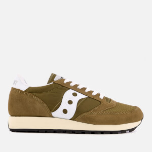 Saucony Men's Jazz Original Vintage Trainers - Olive/White