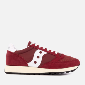 Saucony Men's Jazz Original Vintage Trainers - Burgundy/White