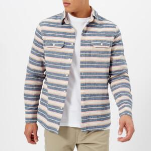 Penfield Men's Hammat Long Sleeve Stripe Shirt - Navy