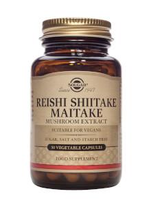 Solgar® Reishi Shiitake Maitake Mushroom Extract - 50 Vegicaps