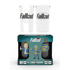 Fallout Vault Tec Large Glasses Twin Pack