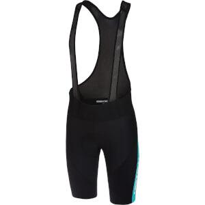 Castelli Velocissimo IV Bib Shorts - Black/Sky Blue