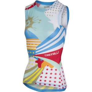 Castelli Women's Pro Mesh Sleeveless Baselayer - Glacier Lake/White