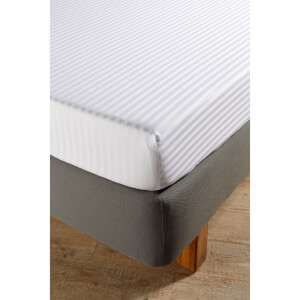 Christy 300TC Sateen Stripe Fitted Sheets - White