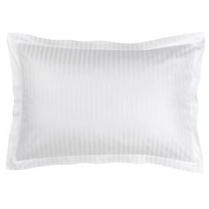 Christy 300TC Sateen Stripe Oxford Pillowcase Pair - White