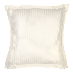 Christy 300TC Sateen Stripe Oxford Square Pillowcase Pair - Ivory