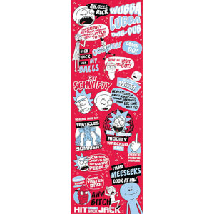 Rick and Morty Quotes Door Poster 53 x 158cm