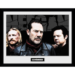 The Walking Dead Negan Crew Framed Photograph 12 x 16 Inch