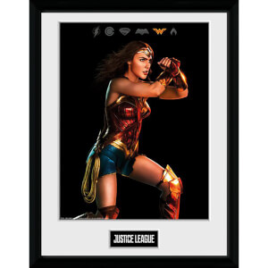 Justice League Movie Wonder Woman Framed Photograph 12 x 16 Inch