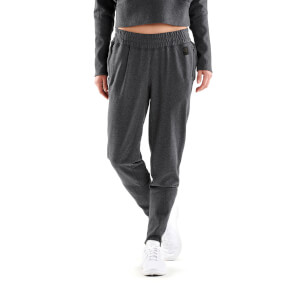 Skins Activewear Women's Spade Light Fleece Tapered Pants - Charcoal Marle