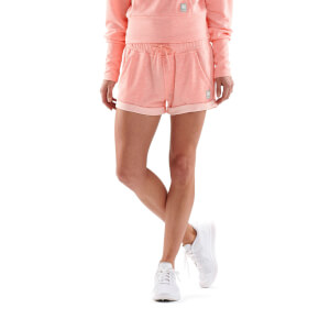 Skins Activewear Women's Wireless Sport Fleece Shorts - Peach Marle