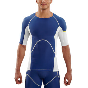 Skins DNAmic Ultimate Cooling Men's Top - White/Zephyr