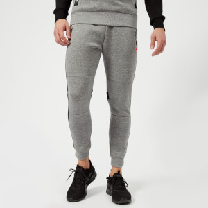 Superdry Sport Men's Gym Tech Stripe Jogger Pants - Grey Grit - Black