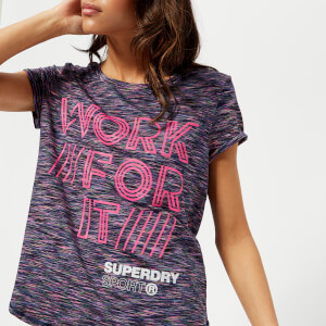 Superdry Sport Women's Fitspiration Ombre Short Sleeve T-Shirt - Miama Slub
