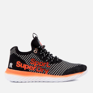Superdry Sport Men's Super Freesprint Weave Trainers - Black-Grey-Orange