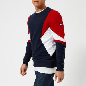 Tommy Jeans Men's Symmetric Sweatshirt - Racing Red/Multi