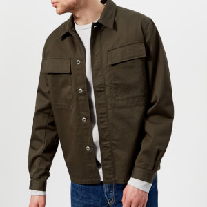 Universal Works Men's Cotton Twill Overshirt - Olive