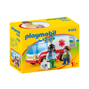 Playmobil 1.2.3 Rescue Ambulance (9122)
